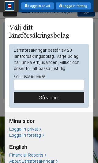 Mobile preview of lansforsakringar.se