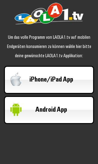 Mobile preview of laola1.tv