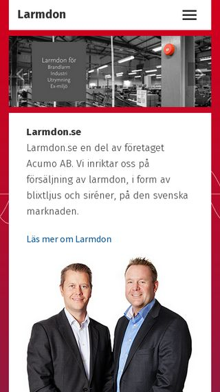 Mobile preview of larmdon.se