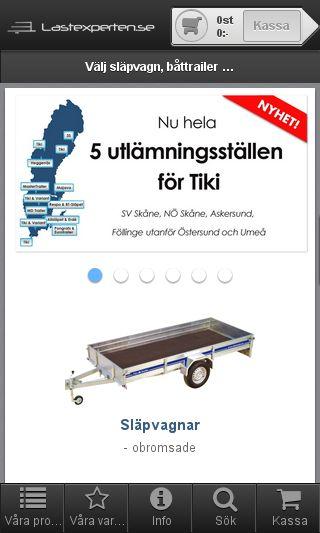 Mobile preview of lastexperten.se