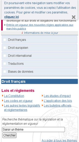 Mobile preview of legifrance.gouv.fr