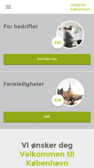 Mobile preview of leilighetkobenhavn.no