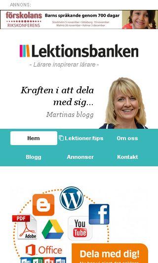 Mobile preview of lektionsbanken.se