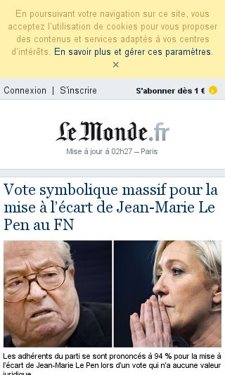 Mobile preview of lemonde.fr