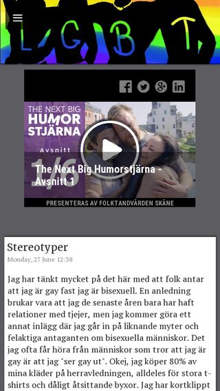 Mobile preview of lgbt.blogg.se