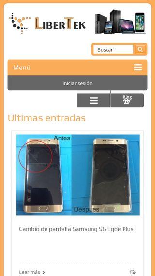 Mobile preview of libertek.es