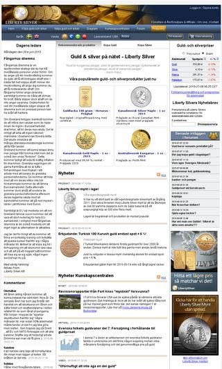 Mobile preview of libertysilver.se
