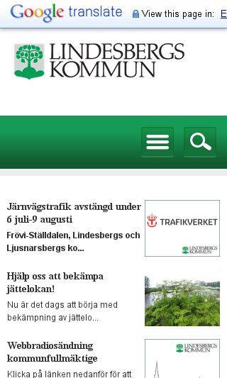 Mobile preview of lindesberg.se