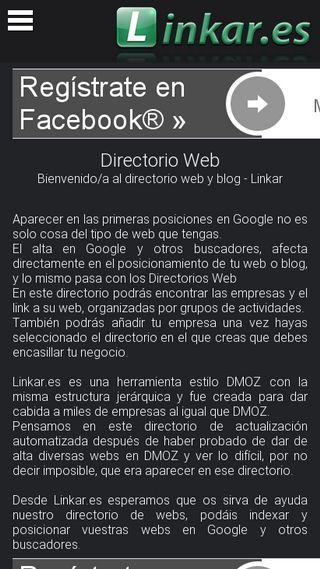 Mobile preview of linkar.es