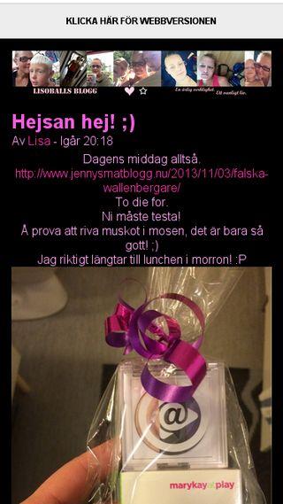 Mobile preview of lisoball.bloggplatsen.se