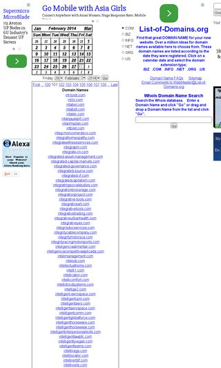 Mobile preview of list-of-domains.org