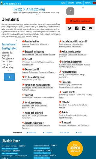 Mobile preview of lonestatistik.se