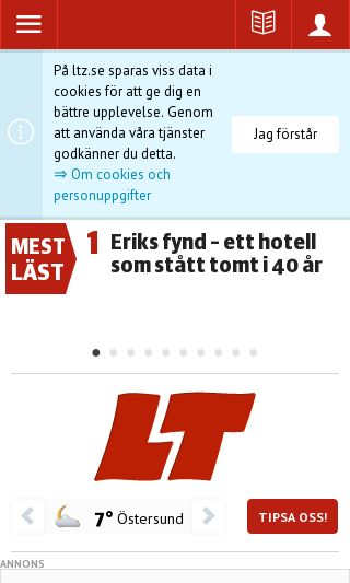 Mobile preview of ltz.se