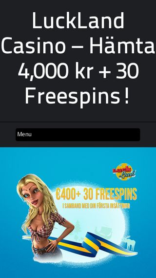 Mobile preview of lucklandcasino.se