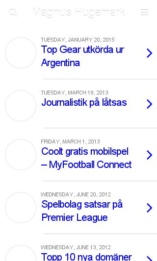 Mobile preview of magnushugemark.com