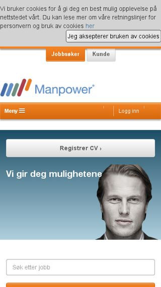 Mobile preview of manpower.no