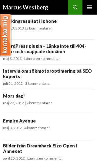 Mobile preview of marcuswestberg.se