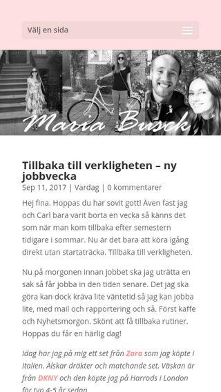 Mobile preview of mariabusck.com