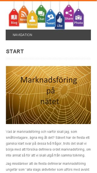 Mobile preview of marknadsforingsocialamedier.se