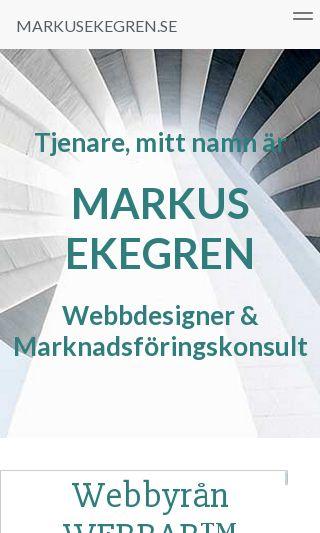 Mobile preview of markusekegren.se