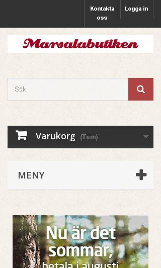 Mobile preview of marsala.se