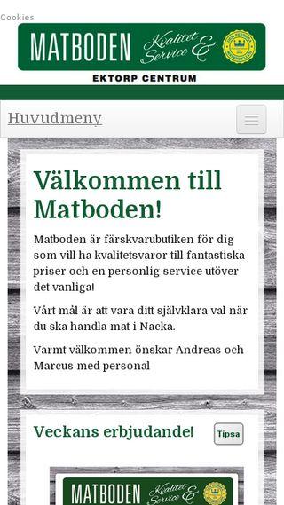 Mobile preview of matbodenektorp.se