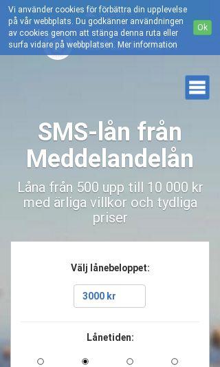 Mobile preview of meddelandelan.se