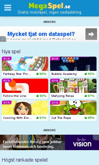 Mobile preview of megaspel.se