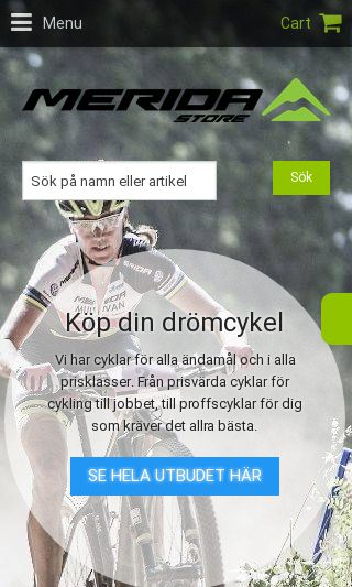 Mobile preview of merida.se