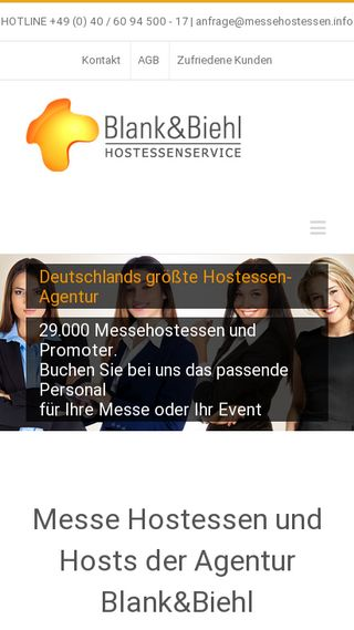 Mobile preview of messehostessen.info