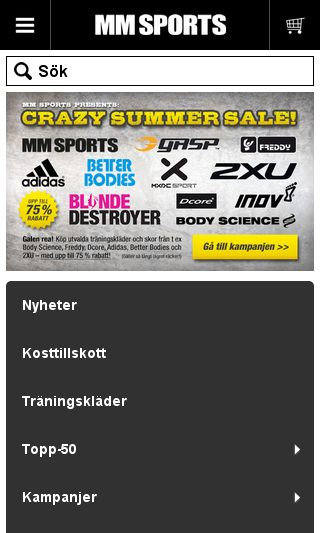 Mobile preview of mmsports.se