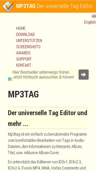 Mobile preview of mp3tag.de