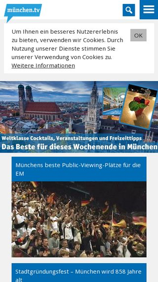 Mobile preview of muenchen.tv