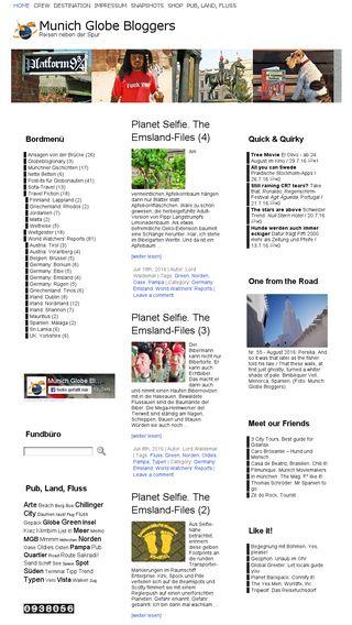 Mobile preview of munichglobebloggers.de