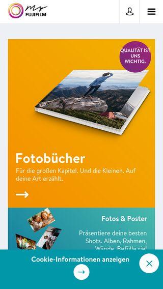 Mobile preview of myfujifilm.de