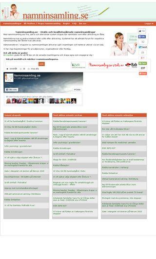 Mobile preview of namninsamling.se