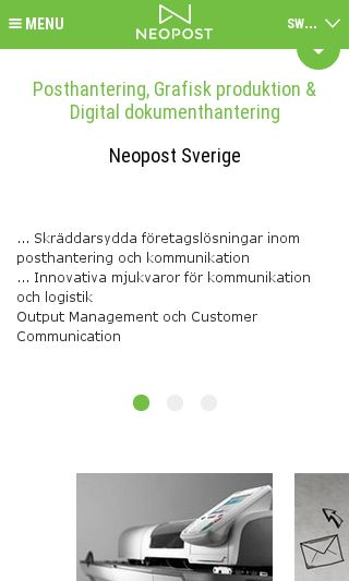 Mobile preview of neopost.se