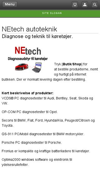 Mobile preview of netech.dk