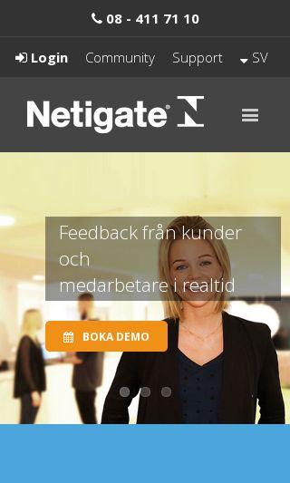 Mobile preview of netigate.se