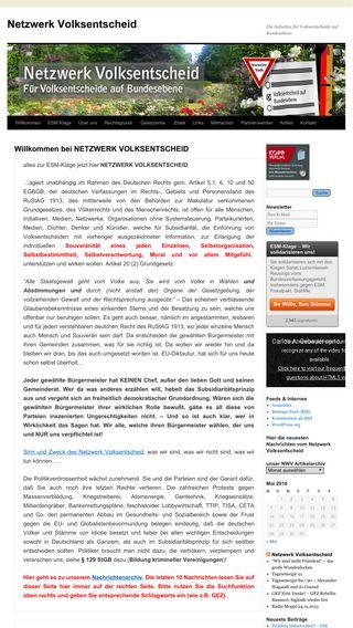Mobile preview of netzwerkvolksentscheid.de