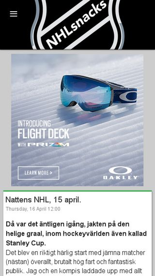 Mobile preview of nhlsnacks.blogg.se
