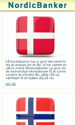 Mobile preview of nordicbanker.com