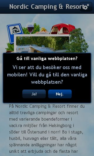 Mobile preview of nordiccamping.se