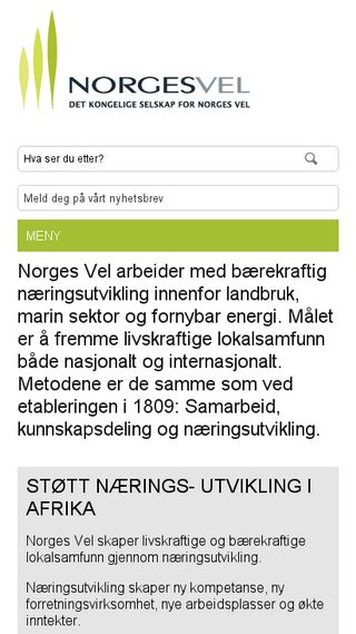 Mobile preview of norgesvel.no