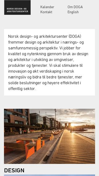 Mobile preview of norskdesign.no