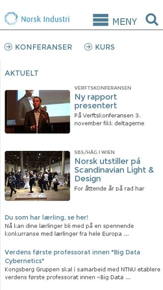 Mobile preview of norskindustri.no