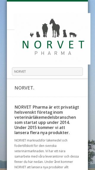 Mobile preview of norvet.se