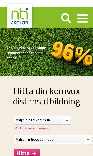 Mobile preview of nti.se