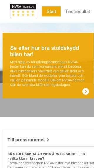 Mobile preview of nvsa.se