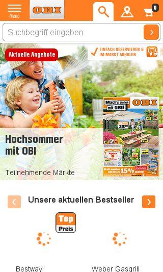 Mobile preview of obi.de